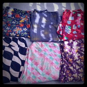 LuLaRoe bundle 6 pair TC leggings GUC